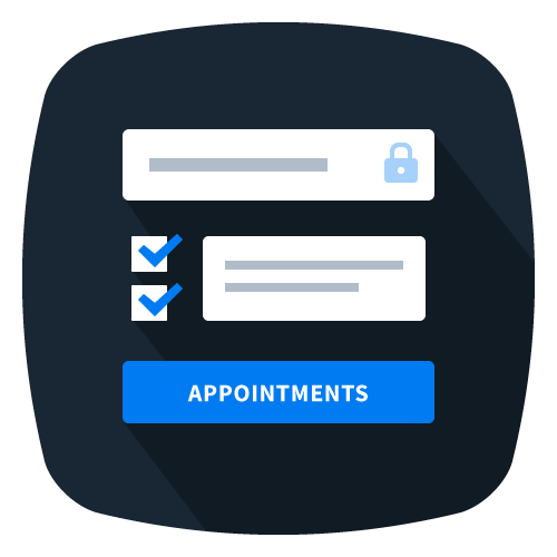icon and link to appointment form